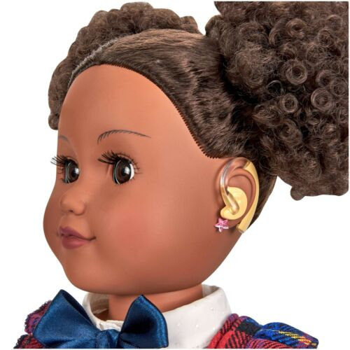 """2 hearing aids and earring sticker sheet my life as  fits 18/"""" American Girl doll"""