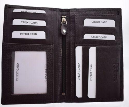 In Pelle Morbida Premium GENTS MAN/'S Giacca Cappotto Wallet Tall grande dimensione da Golunski