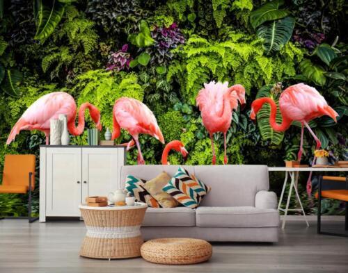 3D Natur Flamingo 92 Mauer Papier Exklusiv MXY Fototapete Abziehbild Innen Mauer