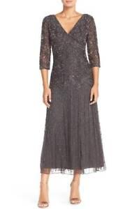 bb4a5d3410ed NEW Pisarro Nights Lace Beaded Mesh Dress Gown [Petite SZ 6P] #M638 ...