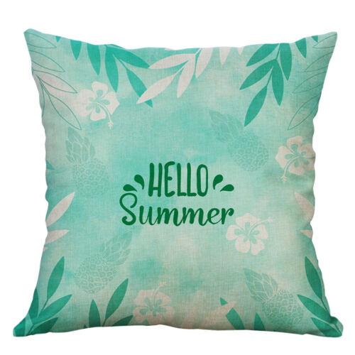 "18/"" Summer Style Cotton Linen Home Decorative Pillow Case Sofa Cushion Cover"