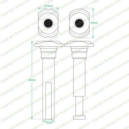 2010-2015 2x Freno Delantero Caliper Slider Pin Kits bcf1464cx2 Vw Amarok
