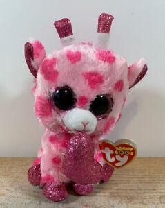 "TY Beanie BOO SWEETUMS Valentine GIRAFFE 6/"""