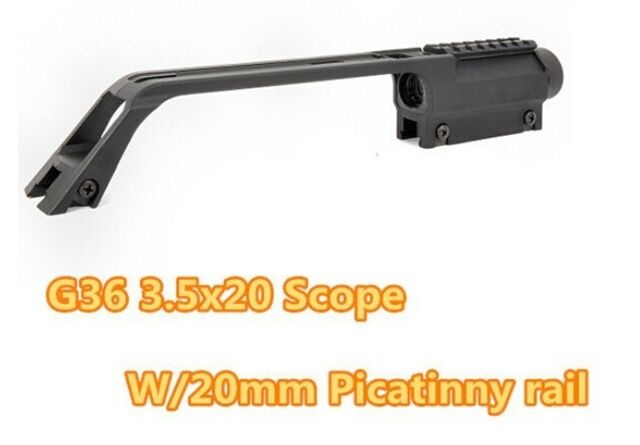 Tactical Rifle Scope 3.5X20 G36 Long Scope for MP5 Metal Sight Weaver Rail Mount