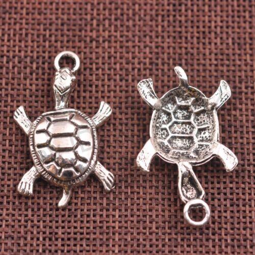 Wholesale 10Pcs Tibetan Silver Tortoise Charms Pendentifs 36 mm M6