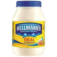 Hellmann's Real Mayonnaise 30 oz NEW FREE SHIPPING