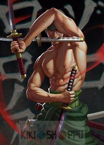 Poster A3 One Piece Ronoroa Zoro Santōryū Manga Anime Cartel 08