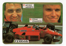 1987 portugués De Bolsillo Calendario F1 Ferrari Equipo-Michele Alboreto & S. Johansson