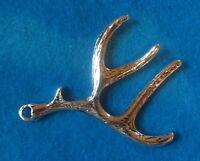 Antler Charm Deer Horn Charm Buck Horn Charm Antique Silver Charm