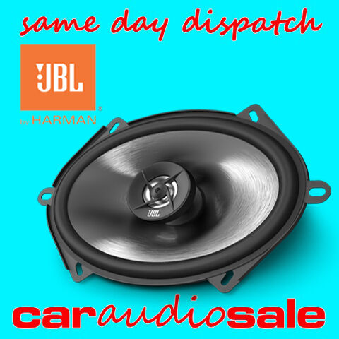 "JBL HARMAN STAGE 8602 6"" X 8"" 180 WATTS 2 WAY COAXIAL CAR VAN SHELF SPEAKERS"