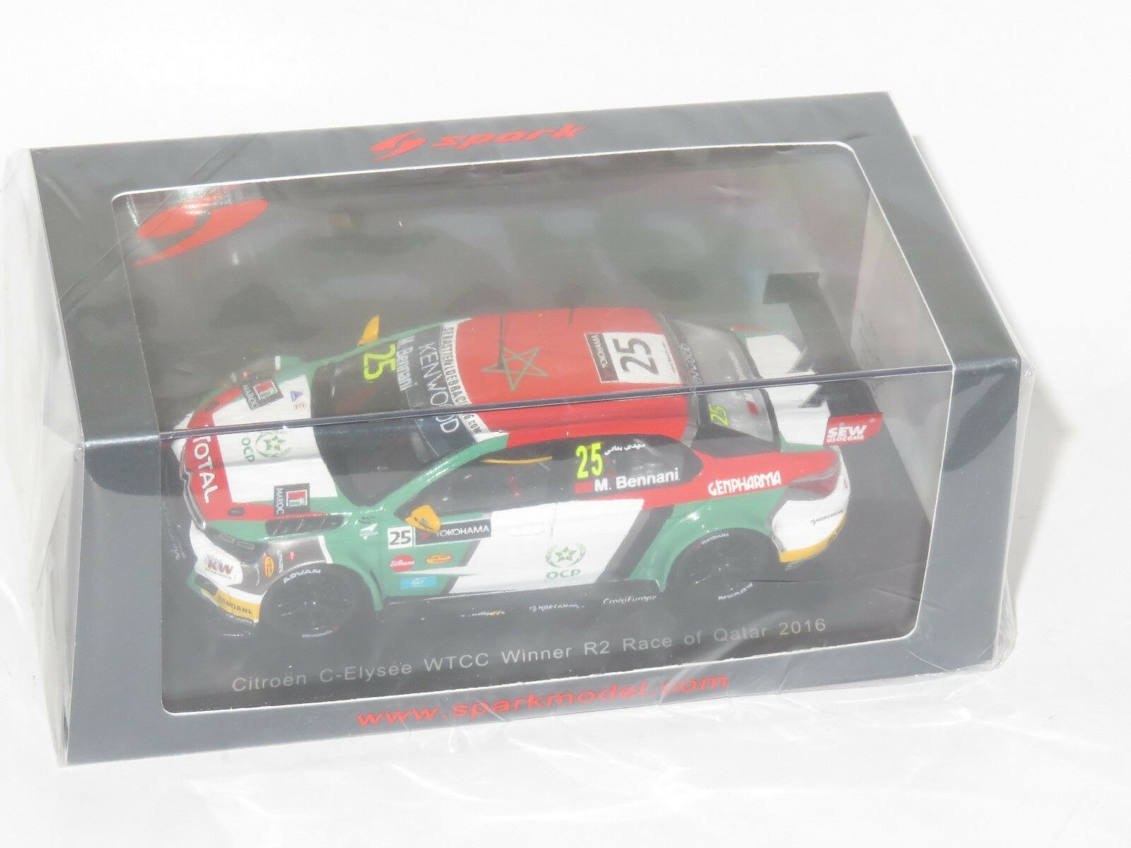 1/43 CITROEN C-ELYSEE WTCC 2016 Winner Race 2 Qatar M. bennani
