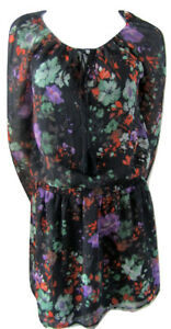 Jessica-Simpson-Floral-Peasant-Top-Minidress-Size-Small
