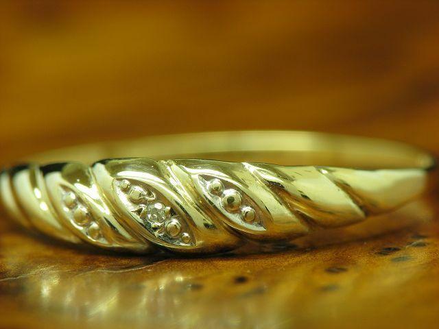 8kt 333 Giallo Anello con diamante diamante diamante solitario coefficiente RG 59 5 1a82aa