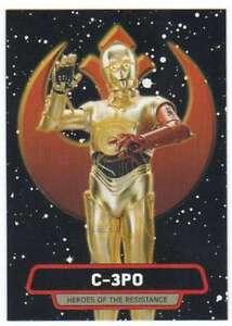 2015 Star Wars Viaje A La Fuerza despierta Héroes resistencia 6 C-3po Topps