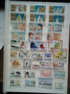 Navires-Ships-Barcos-LOT-TIMBRES-TIMBRES-SELLOS-STAMPS