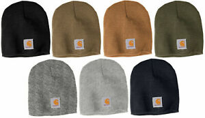 CARHARTT-Acrylic-Beanie-NEW-Authentic-Knit-Hat-Warm-Winter-Cap-One-Size-A205