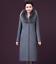 Winter-Elegant-Women-Cashmere-Wool-Blend-Trench-Overcoat-Fur-Collar-Long-Coats thumbnail 3