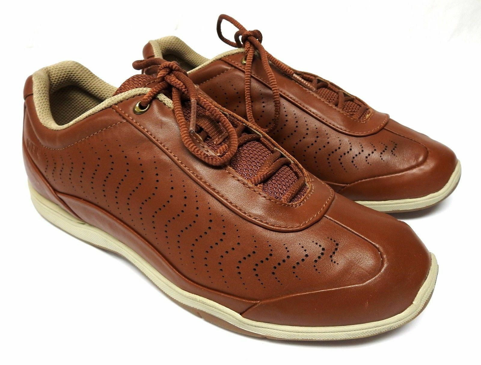 Dr Andrew Weil Orthaheel women's size 10 brown leather lace up walking shoes