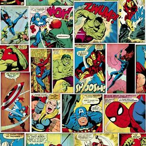 Marvel-Bd-Bande-Papier-Peint-Multi-Muriva-159501-Super-Heros-Bd-Livre