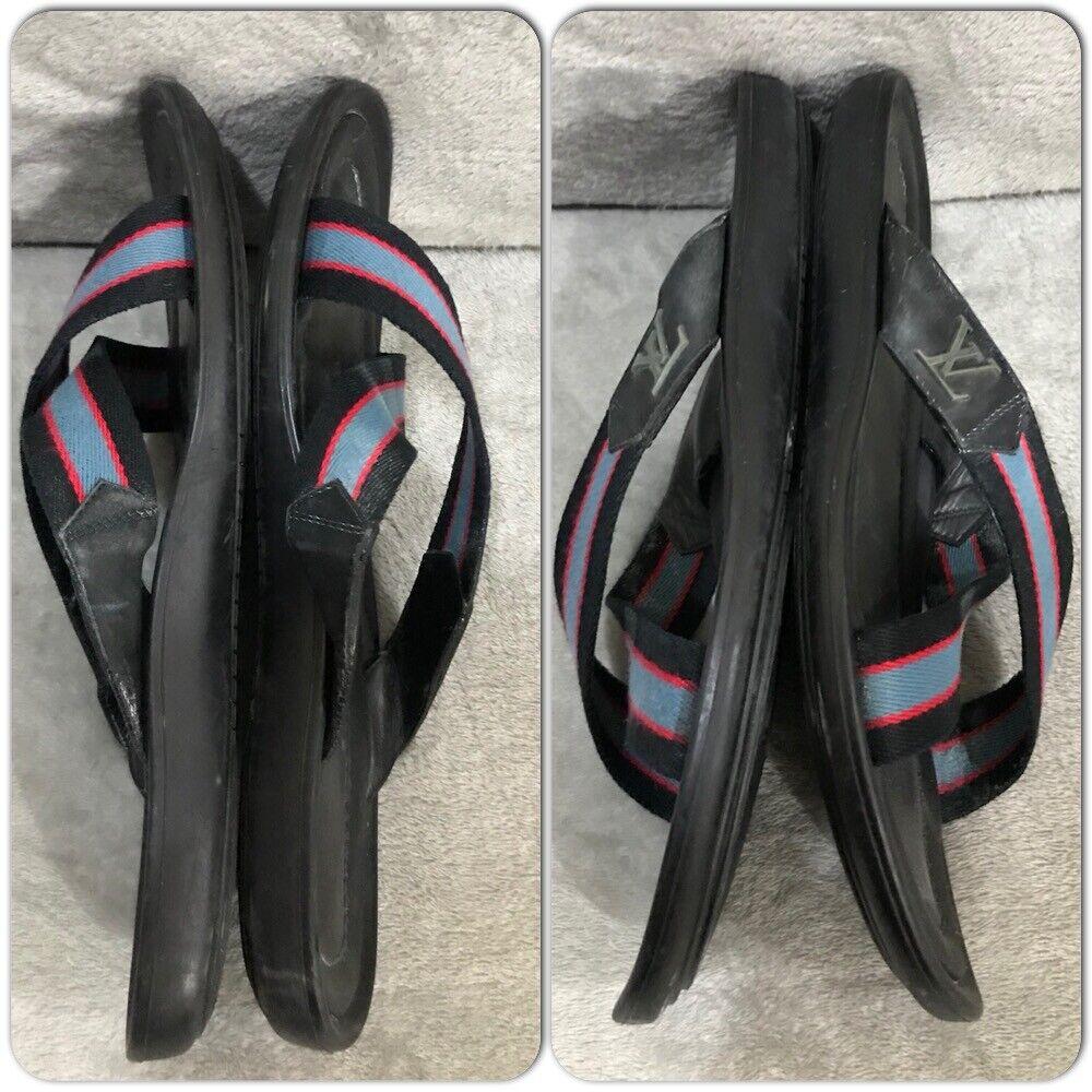 Louis Vuitton leather Canvas Men's Sandals Size 7 - image 2