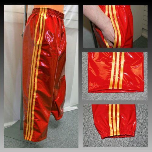 PVC Jogginghose S Jetzt mit Taschen Rot /& Gold 4XL