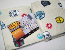 Disney Star Wars Flannel Sheet Set twin or full Chewbacca Yoda Boba Fett Darth