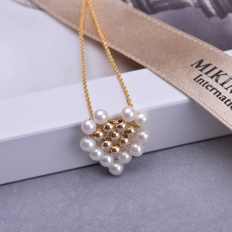 Beautiful AAA 3-4mm real natural south sea white pearl pendant 14k gold-plated
