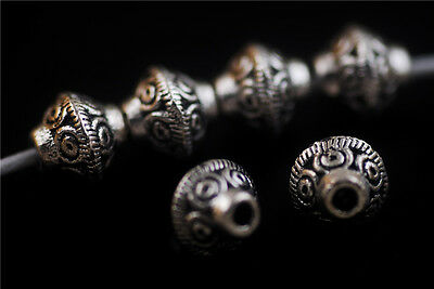 Wholesale 100pcs Jewelry Making Findings Loose Metal Beads Spacer Charms 6.5mm