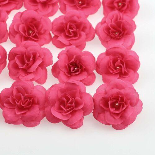 100X Silk Artificial Rose Flower Head Party Wedding Decoration Craft Garland DIY