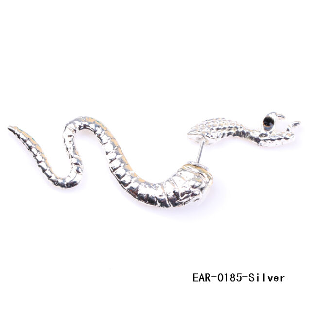 1pc Punk Rock Gothic Metal Temptation Snake Ear Stud Earring Fashion Jewelry