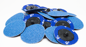 """200-2/"""" Roloc Zirconia Quick Change Sanding Disc 40 Grit"""
