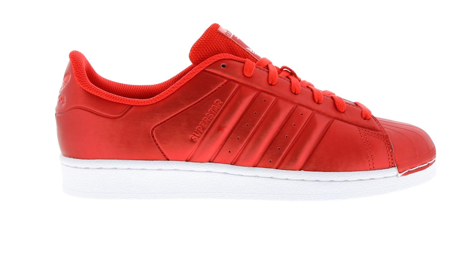 Herren Adidas Superstar rot Synthetisch Turnschuhe Freizeit bb4877
