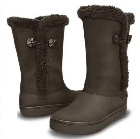 Modessa Suede Winter Button Boot Espresso Brown Women  6, 7 Lined Waterproof NIB