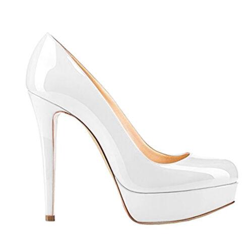 9.5 10 Onlymaker Womens High Heel Platform Round Toe Slip On Club Pumps Size 8