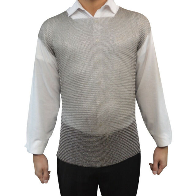 CosPlay SCA RingMesh Welded Stainless Steel Short Sleeve Chainmail Tunic LARP