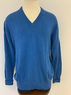 Ballantyne Ecosse 00% Cachemire Royal Bleu Pull Col V M | eBay