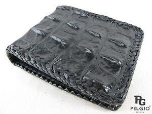 Pelgio Genuine Crocodile Alligator Hornback Skin Leather