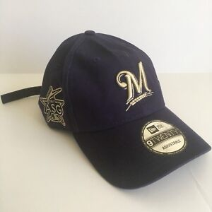 Image is loading New-Era-Milwaukee-Brewers-ASG17-9Twenty-Navy-Strapback- 0b61605f6700