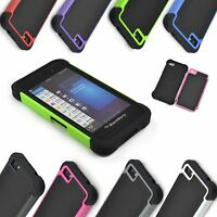 New Dual Layer Shock Proof Hybrid Rubber Case Cover For BlackBerry Z10 BB 10