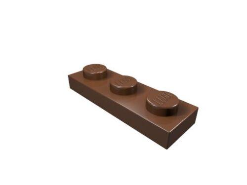 rotbraun LEGO Platte 1 x 3 20 x 3623 neu