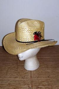 Men s Size 6 ¾ Resistol Straw Cowboy Hat Long Oval 6¾ Western Self ... fb2b6bf94b