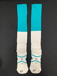 #89 MIAMI DOLPHINS TEAM ISSUED NFL NIKE EQUIPMENT SOCKS USED SIZE LARGE