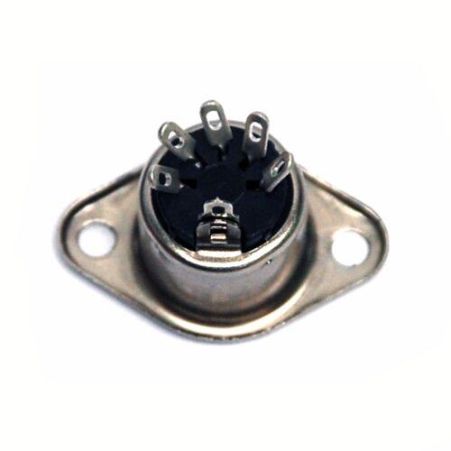 5pc DIN Jack Female Socket 2004-5 5P Soldering Pin /> Tube Radio Audio Amplifier