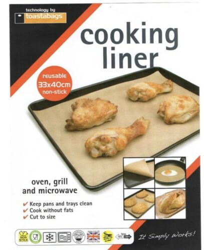 NON STICK REUSEABLE  33 X 40 COOKING LINER FOR FAT FREE COOKING TURKEY FREE P/&P