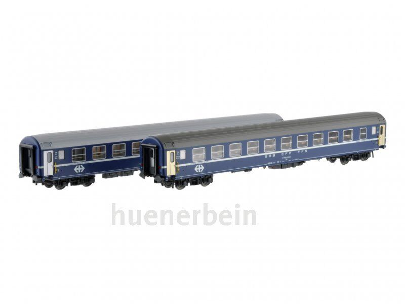 Ls Models 47329 2x SBB CFF FMS 2.kl. Cochero tumbona UIC-X bcm azul ep.4-5 nuevo + embalaje original