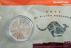 2002-KANGAROO-SILVER-1oz-Coin-Carded