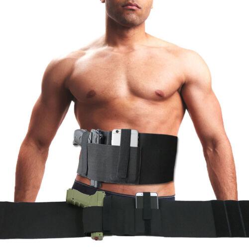 Tactical Belly Band Holster Concealed Carry Pistol Hidden Gun Hand Draw Belt