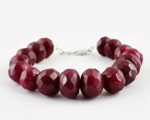 136.50 Cts Earth Mined Rich Red Ruby Round Shaped Beads Bracelet Fine Jewelry Fine Bracelets Best Offer