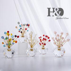 Flat-Beads-Crystal-Figurine-Cut-Glass-Flower-Pot-Ornament-Paperweight-Decor-Gift