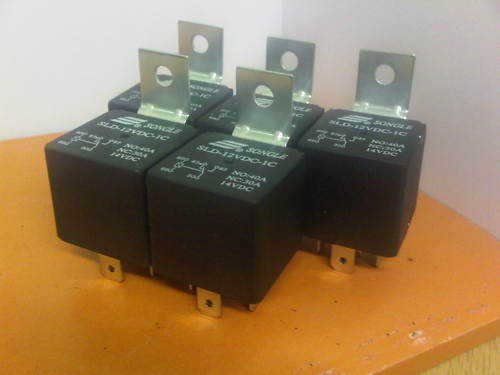 5 x AUTOMOTIVE 12V 30A 40A AMP 5 PIN RELAY AMP NEW